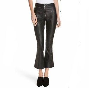 NWT❤️ Cinq a Sept Crop Leather Pants